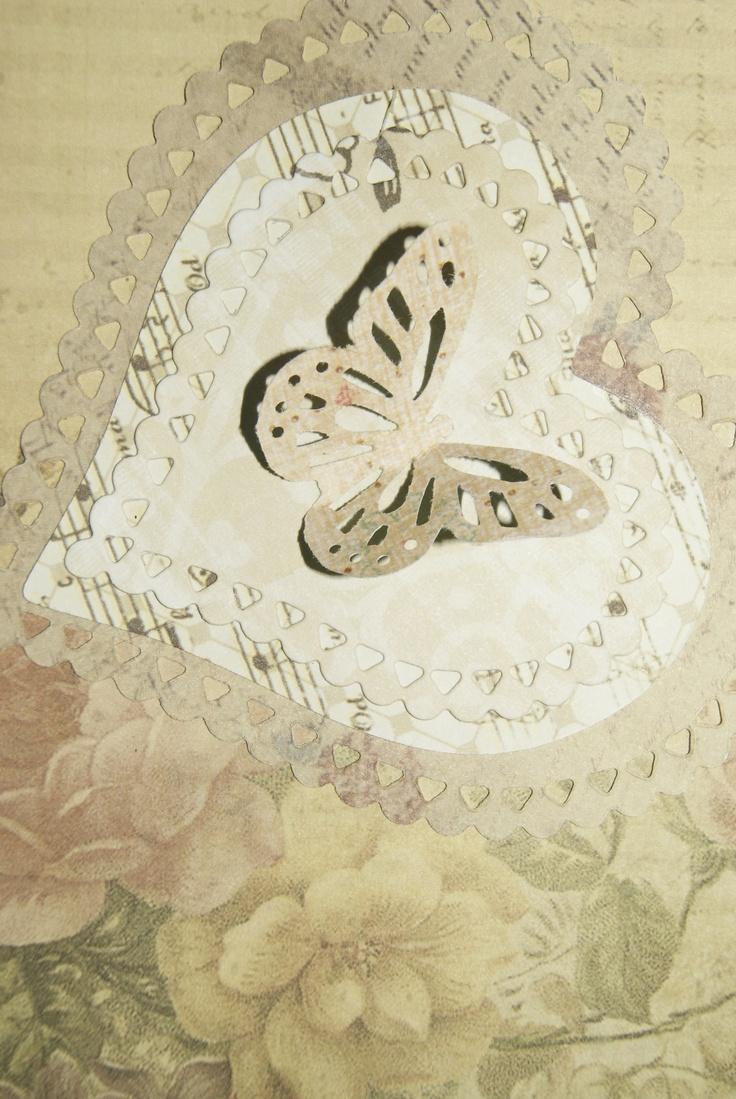 Karteczka imieninowe a z motylkiem