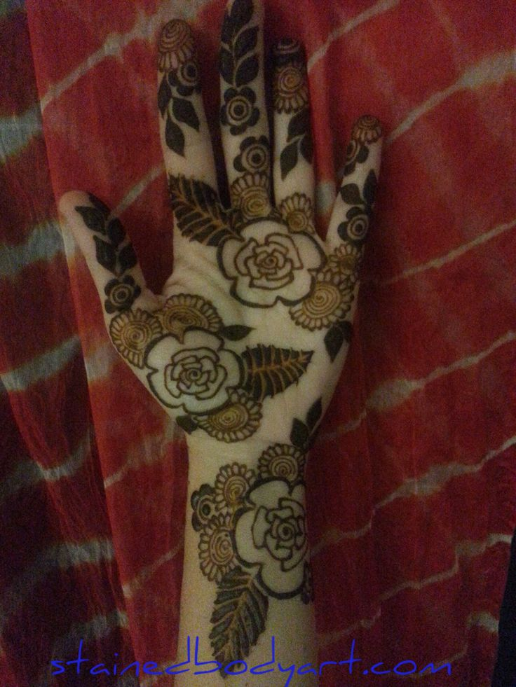 Natural henna ,paste-on. Stained - Henna in Tampa Florida StainedBodyArt.com…