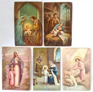 Antiquité circa 1940. Collection. Cartes postales religieuses