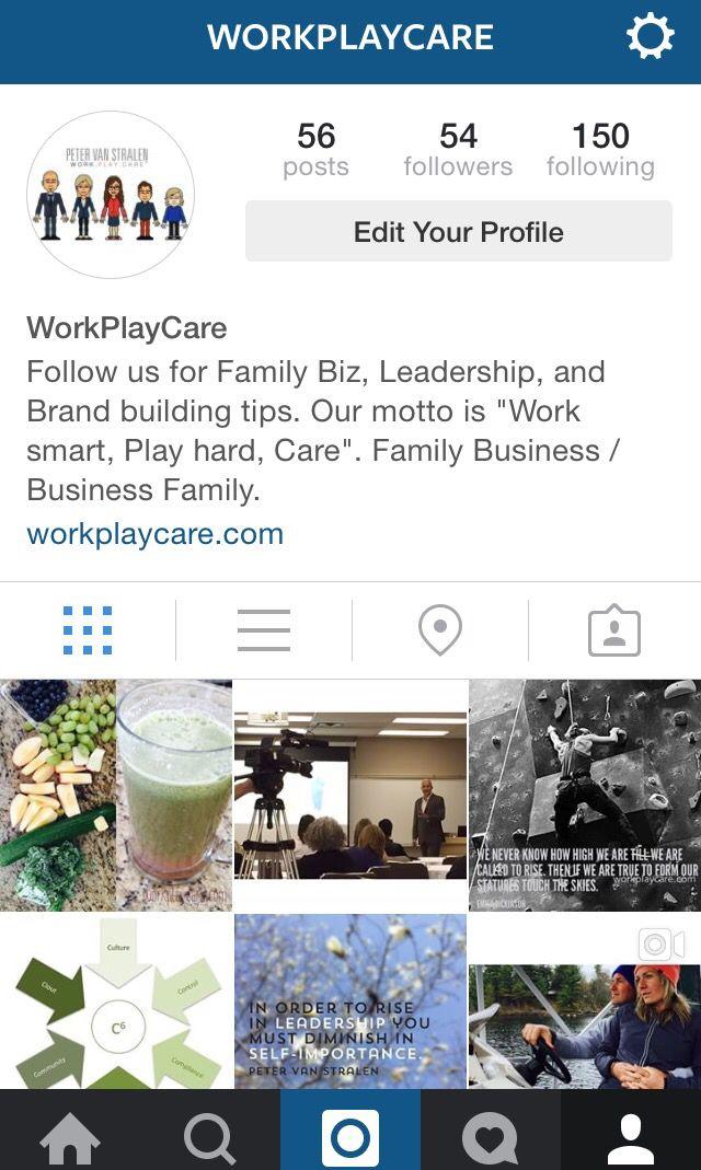 Follow us on Instagram @Workplaycare #WorkPayCare #WorkSmart #PlayHard #CareMore #Instagram
