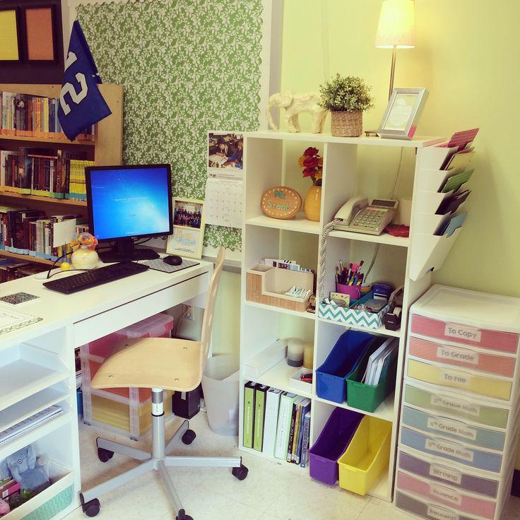 Teacher desk organization!
