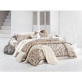 Issimo Caramia - set cuvertura de pat din bumbac satinat - material natural 100% bumbac - tesatura satin pentru un plus de stralucire in dormitor - dimensiuni generoase: 240x260 cm - 2 fete de perna 50x70 cm + 1 fata de perna 45x45 cm http://www.asternuturisiprosoape.ro/issimo-caramia-set-cuvertura-de-pat-din-bumbac-satinat.html