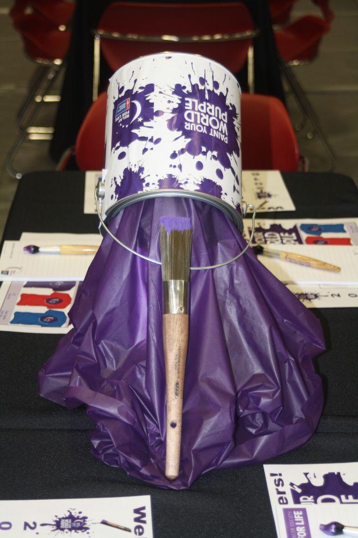 RELAY FOR LIFE -Paint Your World Purple - Debbie Buchanan