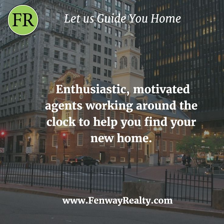 Enthusiastic, motivated agents working around the clock to help you find your new home. Check our Inventory online @ https://www.fenwayrealty.com  #RealEstate #Realtor #Realty #NewHome #HomeSale #HomesForSale #Property #Properties #Home #Housing #Apartment #Apartments #Rentals #Rent #Boston