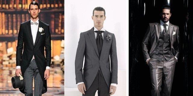 Какие носки одеть под серый свадебный костюм