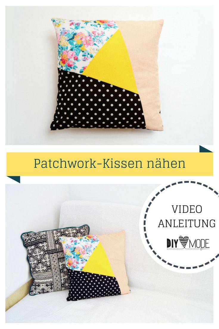 Kissen Kissenbezug Patchwork Hotelverschluss asymetrisch für Zuhause Geschenkid…