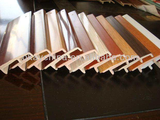 modern wood imitation PVC skirting board WH-030 $0.1~$0.8