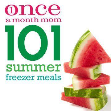 101 Summer Freezer Meals #freezercooking #oamc #summerfoods