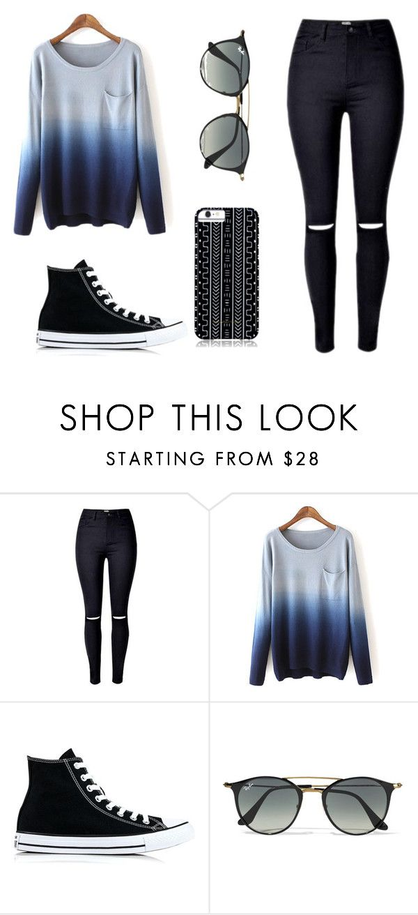 """""""My style # 2"""" by quelstylist on Polyvore featuring moda, Converse, Ray-Ban e Savannah Hayes"""