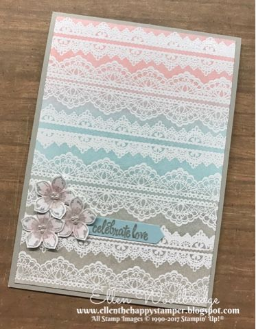 Well I jumped the gun and made a Wedding Card for an April Blog Highlight and silly me used Sale-A-Bration sets that will not be current in...