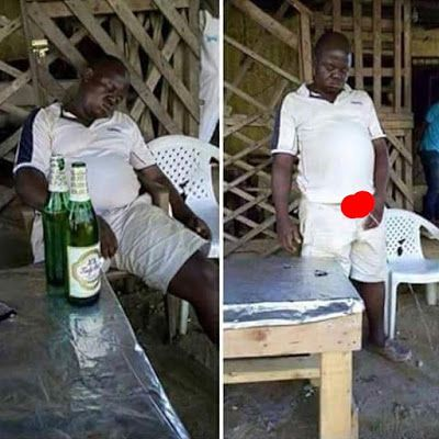 Welcome to Ele & Elis Blog: Man peeing after getting drunk in Lagos (Photos)