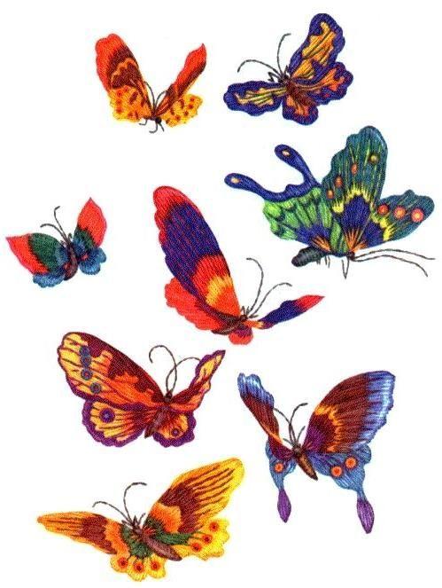 <strong>Вышивка</strong>. <strong>Вышивка гладью</strong>. Бабочки. | AveMeri АвеМери