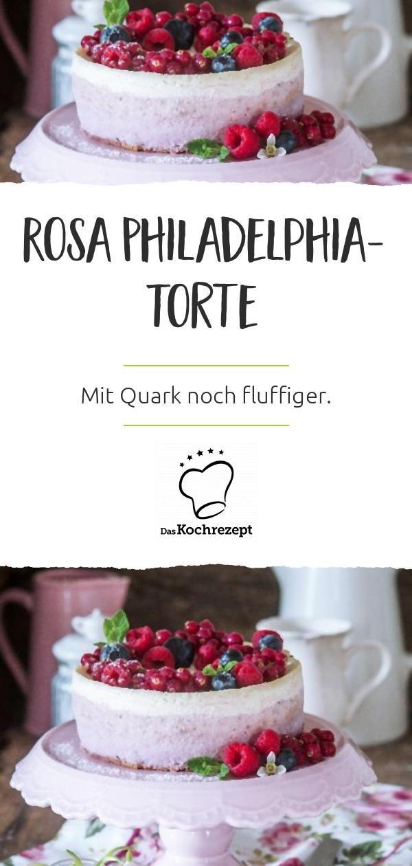 Rosa Philadelphia Torte Rezept In 2020 Susse Kuchen Philadelphia Torte Und Kuchen Ohne Backen