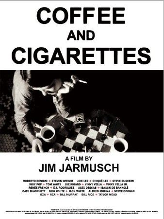 a all movie in a perfect graphic balance #JimJarmusch#CoffeeandCigarettes