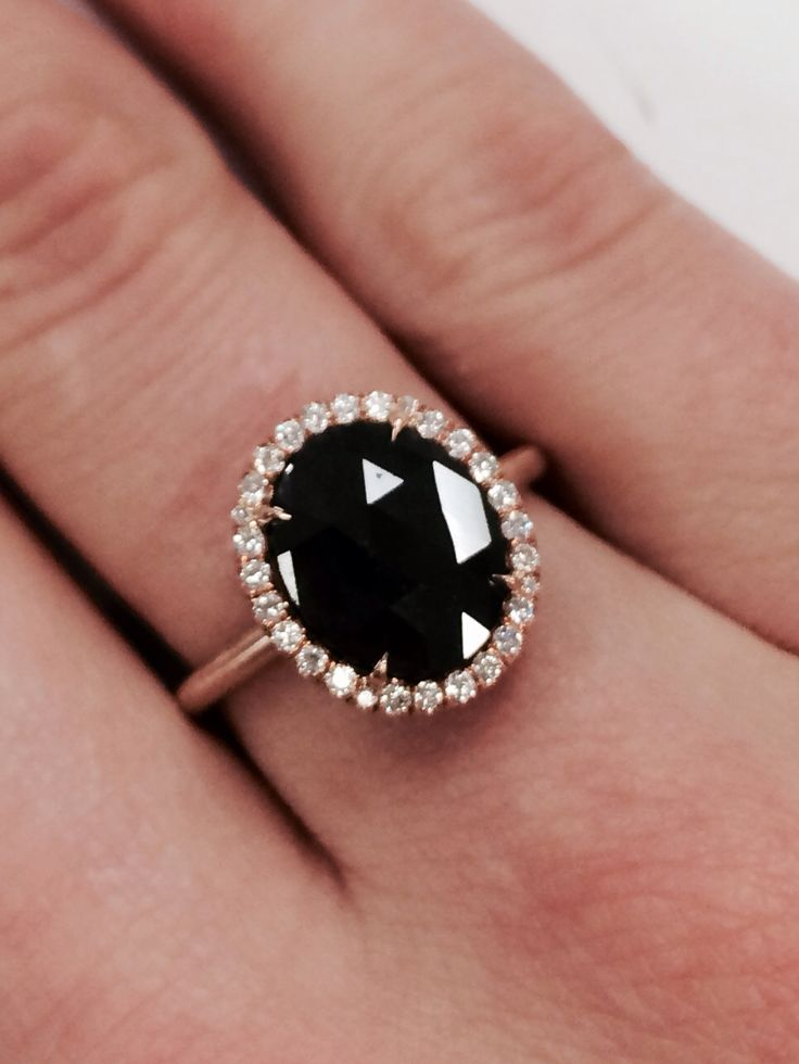 Vintage inspired black diamond ring