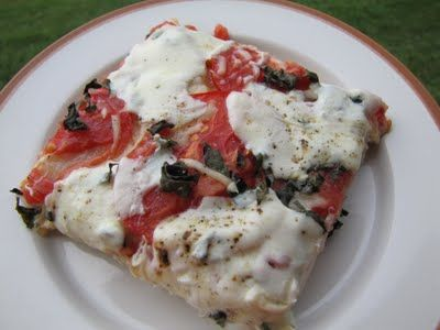 Busy Nest: Tomato Basil Pizza This sounds delicious and easy....