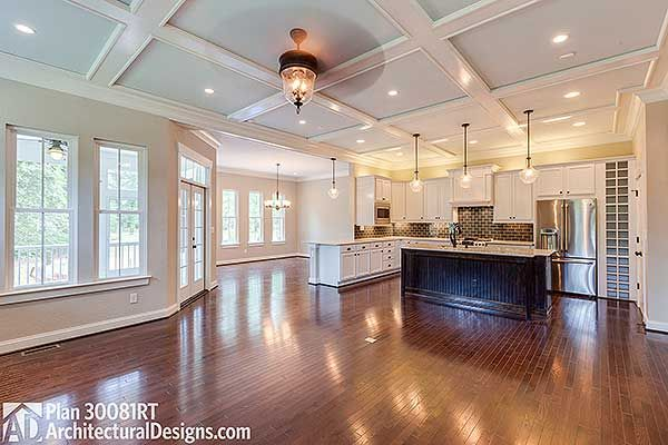 Open floor plan in Farmhouse House Plan 30018RT