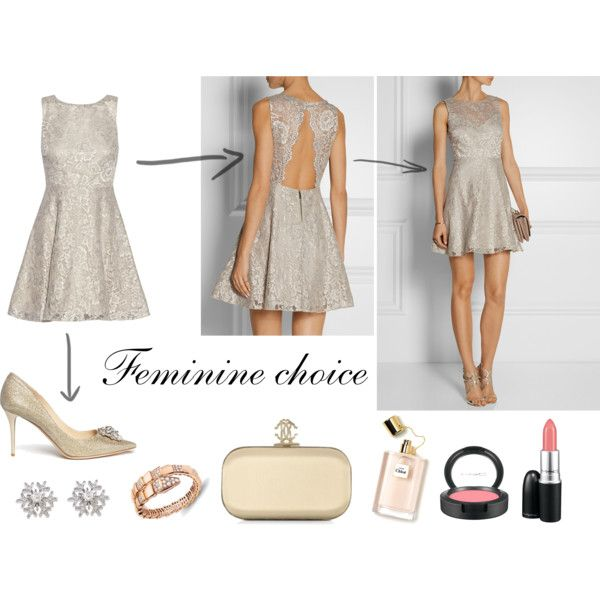 """""""Holiday outfit - Feminine choice"""" by thefashionjourn on Polyvore - Holiday style equations: http://bit.ly/1BZZuUt"""