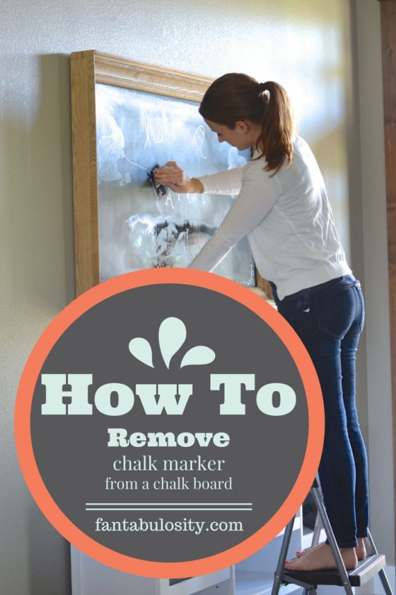 How to remove chalk marker off of a chalkboard. Finally! Something that works. http://fantabulosity.com How to get chalk paint off of a chalkboard.