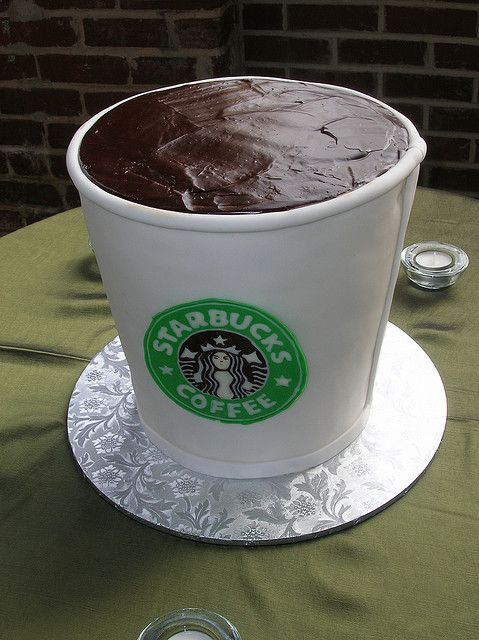 Starbucks Coffee Cup Cake - cute...could write other stuff on the cup and make it a mug too