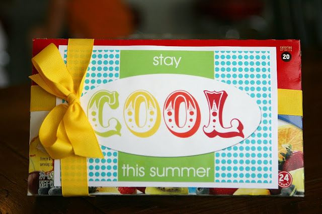 Stay Cool Printable (I used with an array of otter pops).