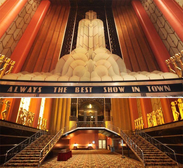 101 best art deco theaters images on pinterest art deco for Art deco cinema interior