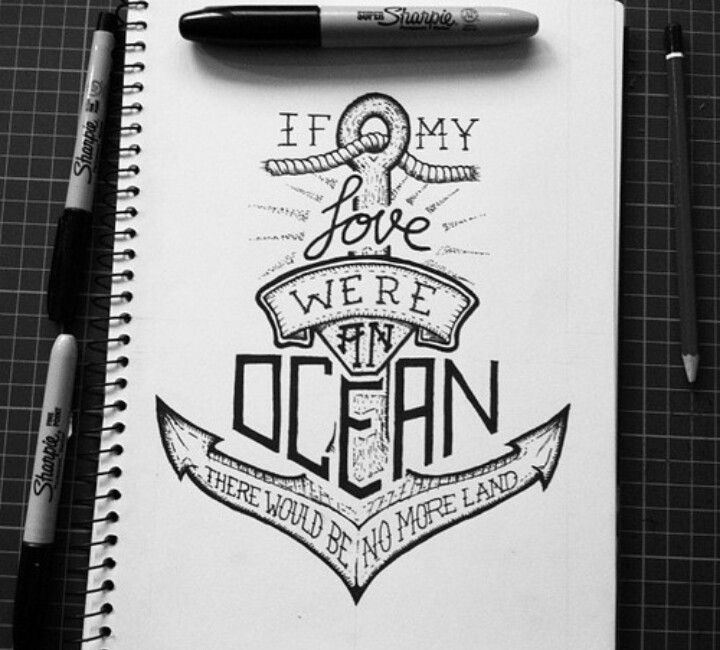 If my love were an ocean...
