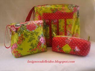 La Signora delle Idee: Tracolla, pochette e astuccio Spring Flowers Colle...