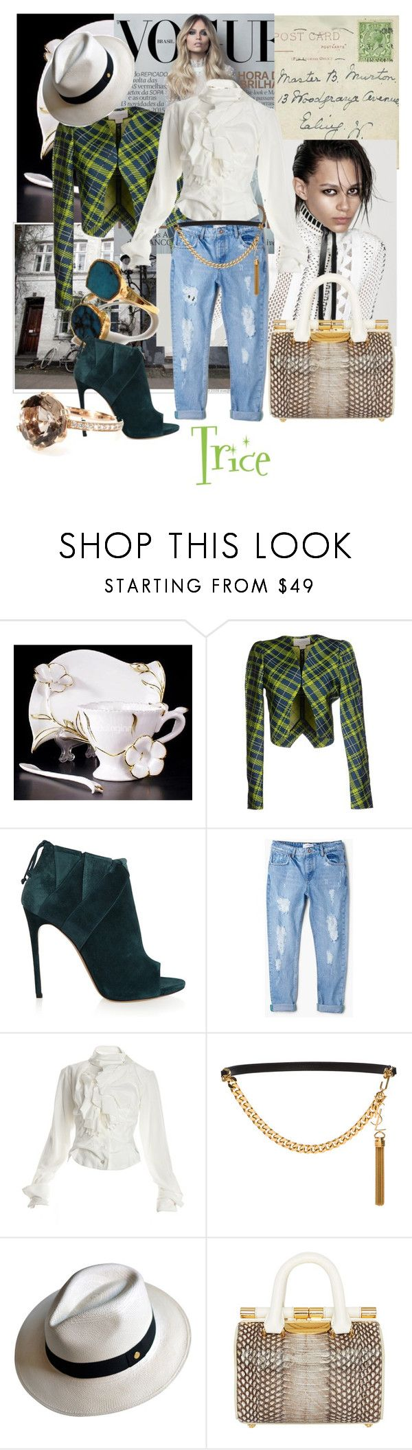 """Their will be time.~~7⃣👊"" by tricewillbe ❤ liked on Polyvore featuring Antonio Berardi, Casadei, MANGO, Vivienne Westwood, Yves Saint Laurent, Cuyana, Tyler Alexandra and Cada"