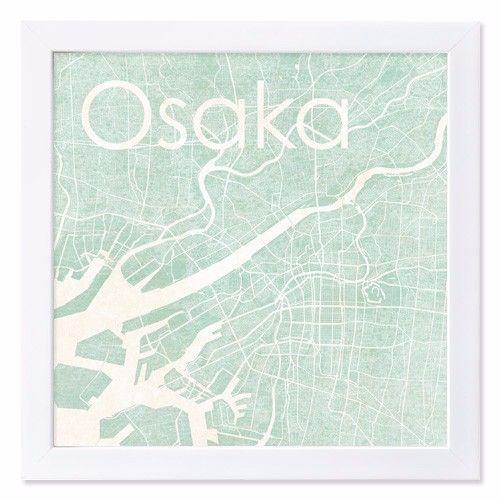 大阪の地図をシルエットにし、水彩テイストでアンティーク風に仕上げました。木製のフレームはホワイトのツヤ有り塗装仕上げで、少しかわいい印象になります。 水彩テイ...|ハンドメイド、手作り、手仕事品の通販・販売・購入ならCreema。