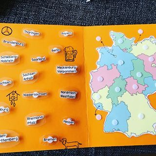 Jetzt auch auf meinem Blog zum Download. .. … Meine erste #burdockmappe für den #Erdkunde Bereich. Meine erste Nicht-DAZ-Mappe hiermit können die #schüler unsere #Bundesländer wiederholen und auch üben an welcher Stelle #Deutschlands die Bundesländer liegen. Das #geschnipsel war allerdings etwas komplizierter. Die Bundesländer-Schildchen musste ich recht klein machen, damit sie auch schön auf der Karte aussehen. Daher habe ich sie so laminiert und ausgeschnitten, dass sie größer sind. Diese – Heather Beier