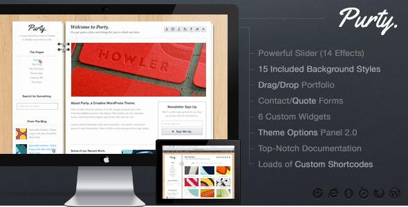 Purty: Creative Portfolio WordPress Theme