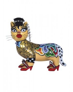 Escultura Gata Bonnie - Thomas Hoffman #tomsdrag #thomashoffman #decoracao #escultura #amandapresentes #gata #bonnie