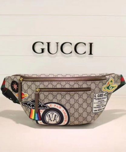 bc451de5d17f Replica Gucci Courrier GG Supreme belt bag 529711 Dark Coffee #6950 ...
