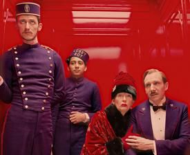 A sparkling cast dazzle in Wes Anderson's 'The Grand Budapest Hotel', showing at Chapter Fri 21 March - Thu 3 April. We follow the adventures of lobby boy Zero Moustafa as he is trained up by legendary concierge Gustave H at a famous European hotel in the 1920s. Juggling eccentric hotel residents and the theft of a priceless painting against the backdrop of a sudden and dramatically changing continent, Zero and Gustave become trusted friends. http://www.chapter.org/grand-budapest-hotel-12a