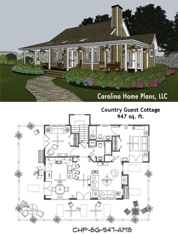 Small cottage home plans with wrap around porch house for Tiny cottage house plans