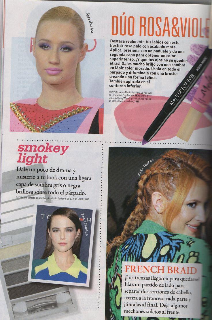 Nuestro Cuarteto de Sombras Acabado Perfecto en color Smoky que te ayudará a darle un poco de drama y misterio a tu look, en la Revista Seventeen.