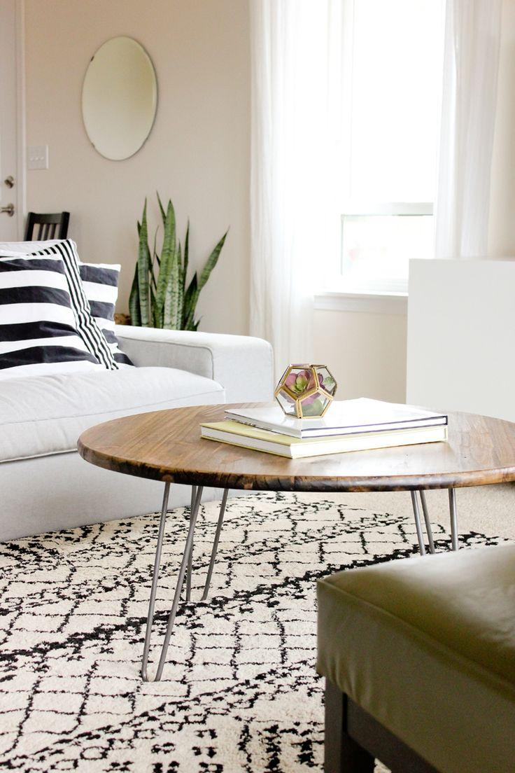 Diy Round Wood Coffee Table