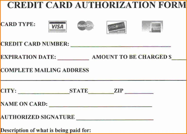 Credit Card Authorization Form Ny  CanelovssmithliveCo
