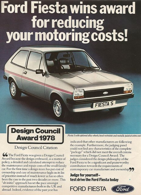 Fiesta advert from 1978 #vintage #Fiesta #Days