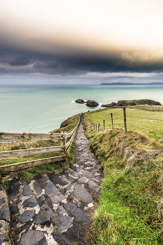 Stairs to the Sea at Ballintoy - Co Antrim, Northern Ireland