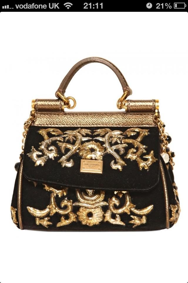 ShopStyle: Dolce & Gabbana - Mini Miss Sicily Embroidered Velvet Bag
