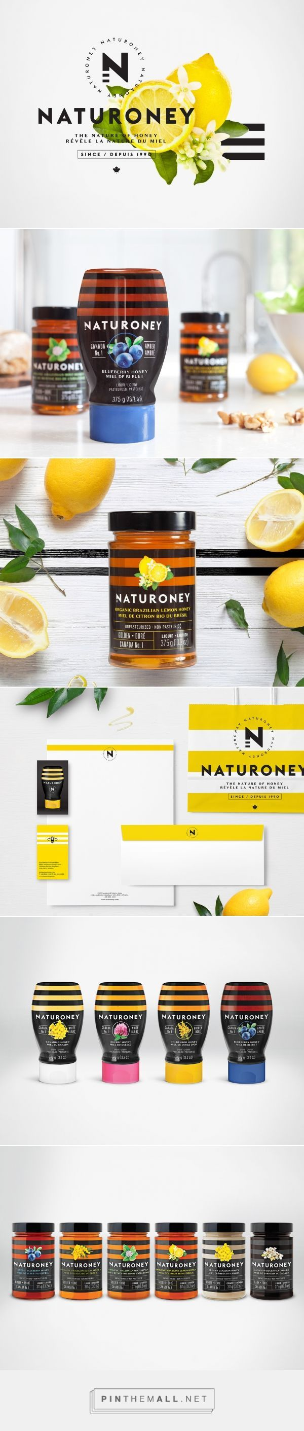 Naturoney Honey Branding and Packaging by Marie-Pier Gilbert and Lg2boutique