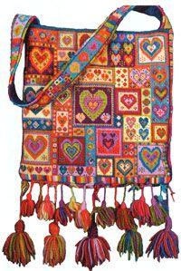 Ik heb het pakket voor deze tas al een aantal jaar terug gekocht, ...... halverwege met borduren.....;-))