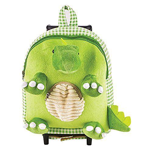 Jurassic Dinosaur Stegosaurus Plush Roller Travel Luggage