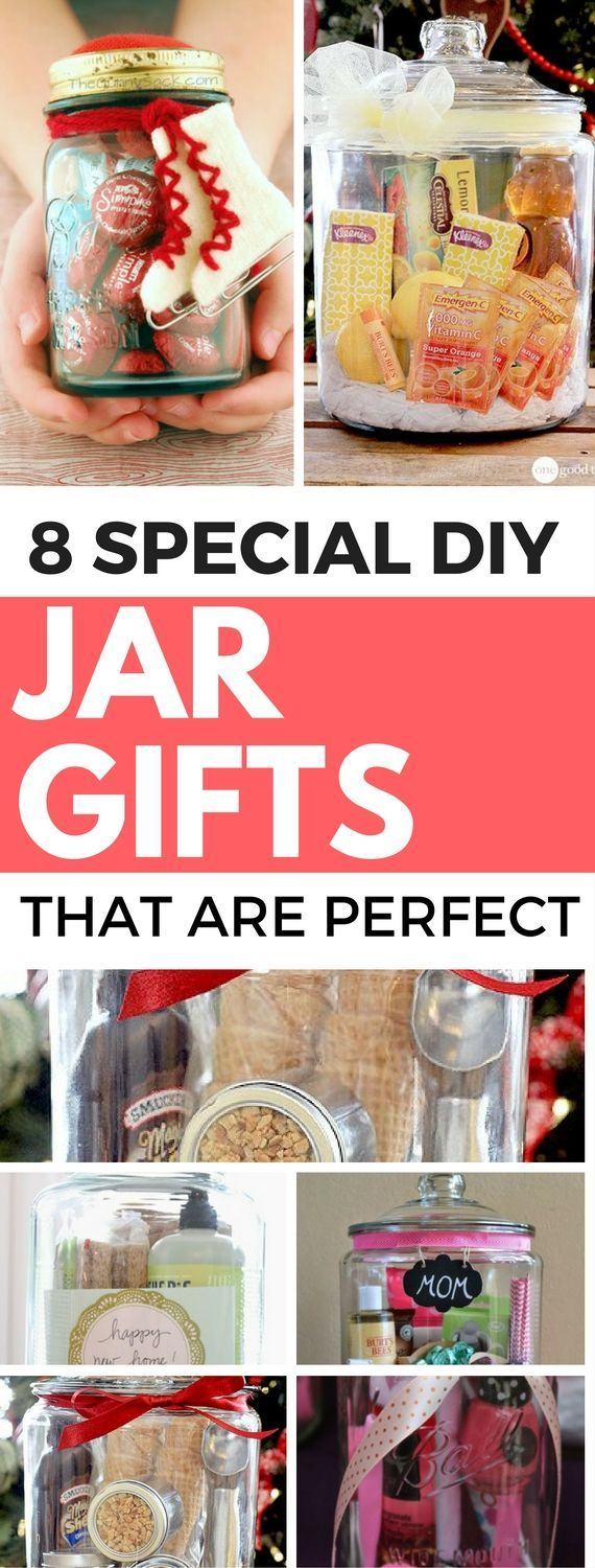 8 DIY Jar Gifts That Are Perfect For A Loved One - Find awesome jar gift ideas for a friend, parent, boyfriend, girlfriend and more. These gifts will definitely ensure a huge smile!