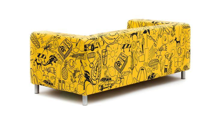 ARTEFLY Ikea Klippan YELLOW cover