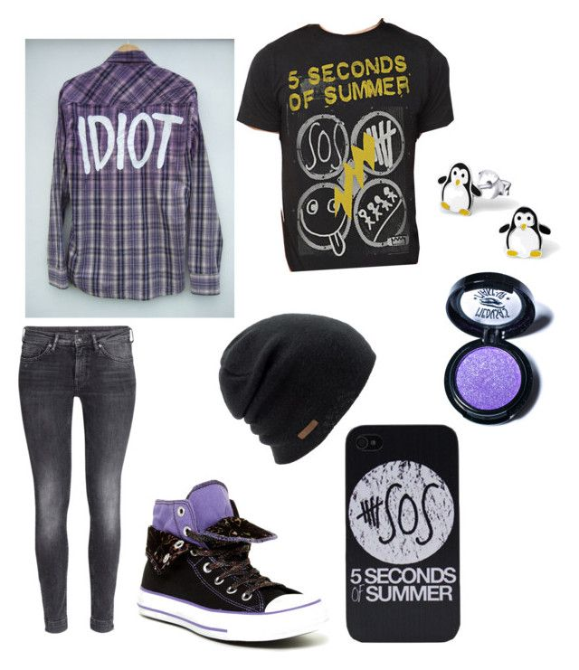 """""""5 seconds of summer concert outfit"""" by lauren2900 ❤ liked on Polyvore featuring H&M, Converse, Coal and Medusa's Makeup"""