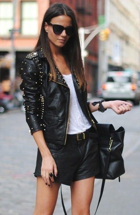 Street Fashion | leather jacket