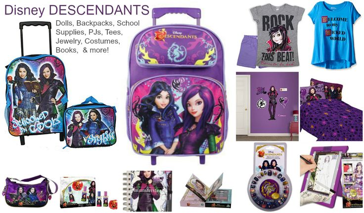 Disney DESCENDANTS Free Printable Party Pack Plus Dolls and Books - Mal, Evie, Audrey, Lonnie, Jane, Carlos and Ben - create a fun birthday or slumber party